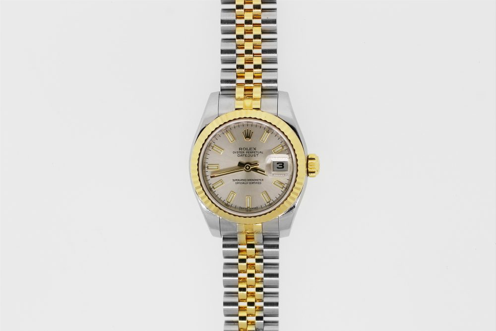 Rolex Two-Tone Datejust Silver Dial Model 179173 with Box & Paper