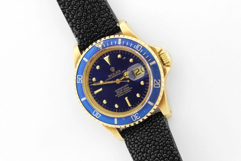 Rolex 18k Yellow Gold Blue Submariner 1680