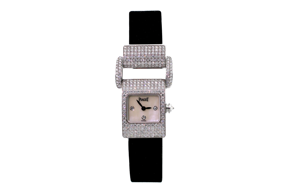 Piaget 18k White Gold Factory Diamond Protocol