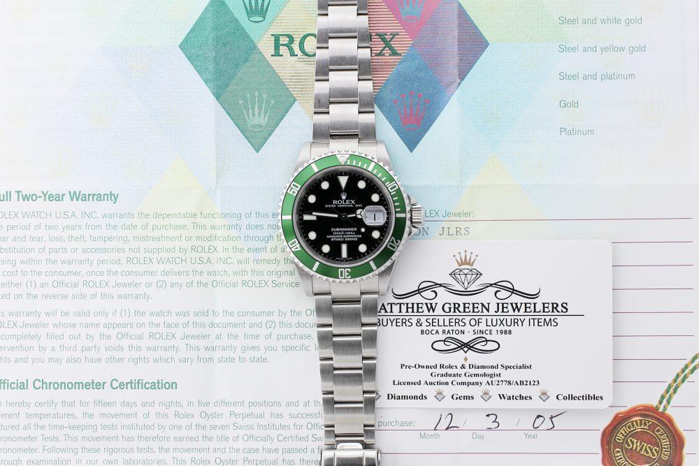 Rolex Steel Anniversary Submariner 16610T with Box & Paper