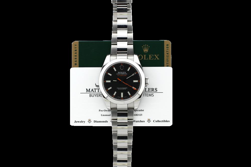 Rolex Steel Milgauss 116400 Box & Card (Discontinued)