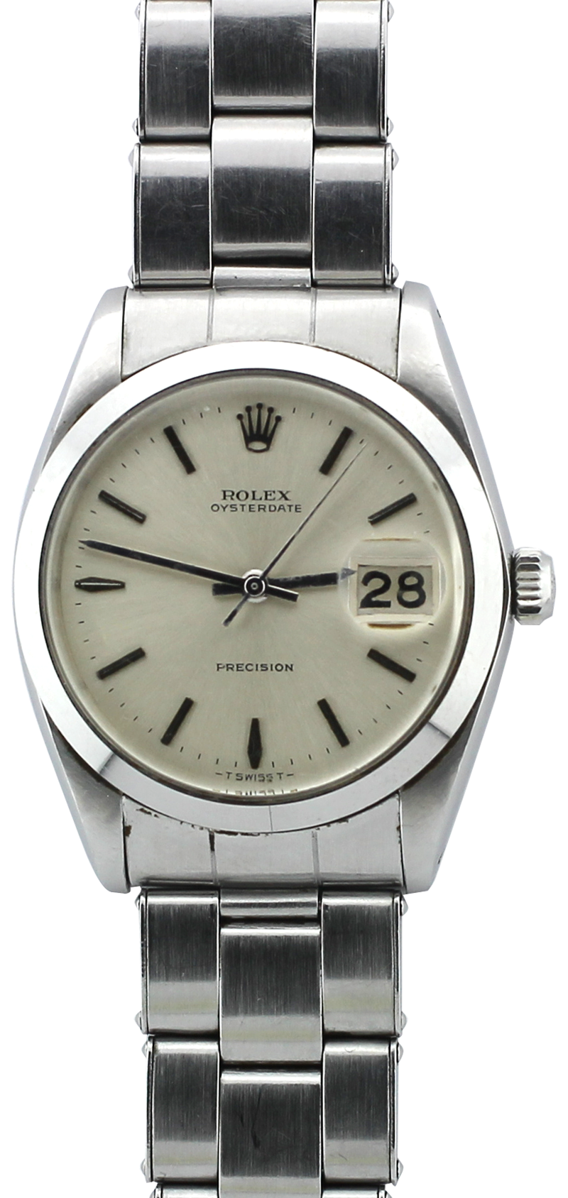 Rolex Stainless Steel Oyster Date 6694 on Rivet Bracelet with Box & Booklets