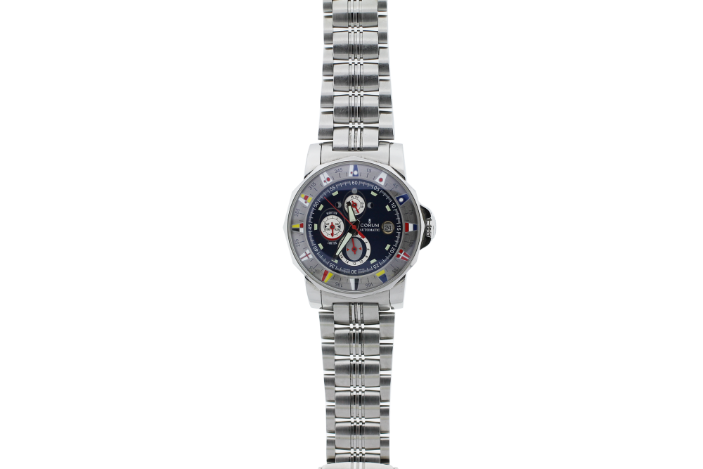 Corum Steel Admirals Cup Tides with Blue Dial 977.630.20