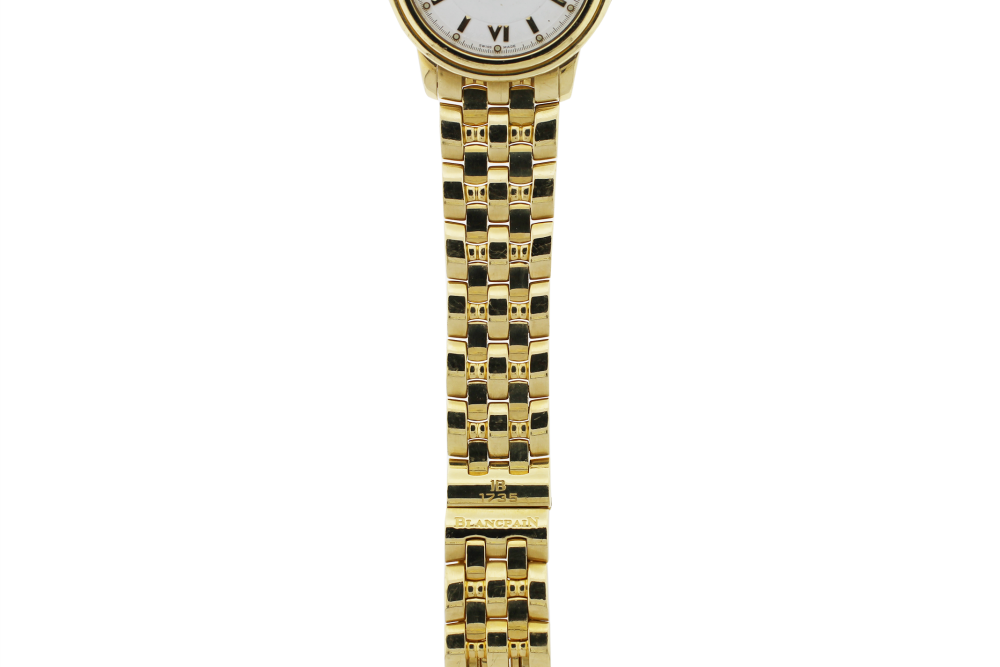 Blancpain 18k Yellow Gold Automatic Date Dress Model 487 on Bracelet