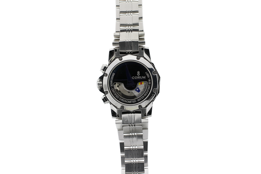 Corum Steel Admirals Cup Tides with White Dial 977.630.20