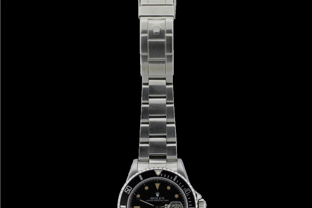Vintage Rolex Steel Submariner 16800 Matte Cream Patina Hour Markers