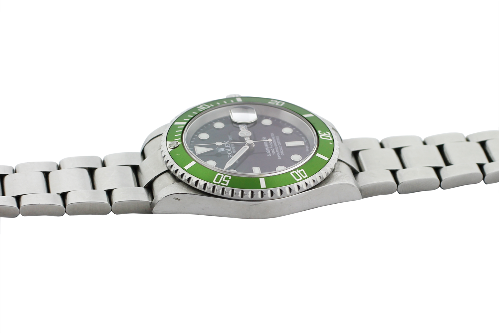 """Rolex Steel Anniversary Submariner """"Flat 4"""" 16610T with Box & Paper"""