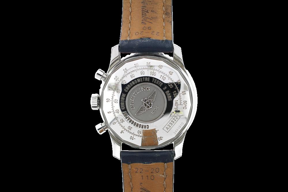 Breitling Steel Navitimer Chronograph Blue Dial A23322