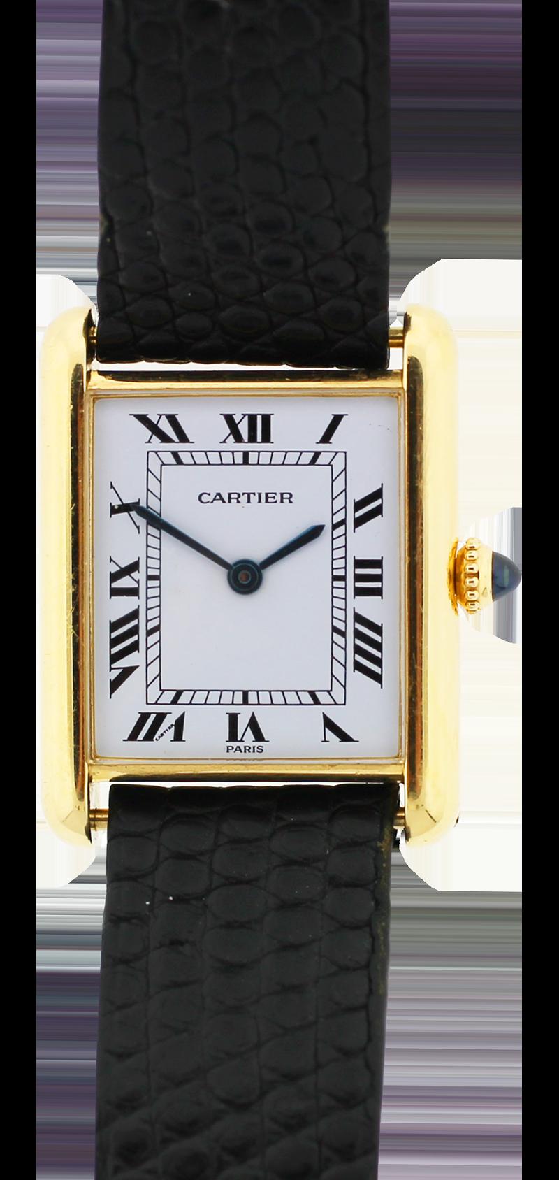Cartier 18k Yellow Gold Manual Wind Tank
