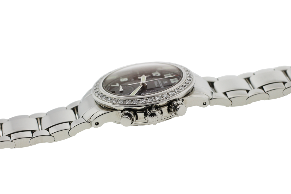 Blancpain Steel Factory Diamond Flyback Chronograph Automatic Model 815 on Bracelet